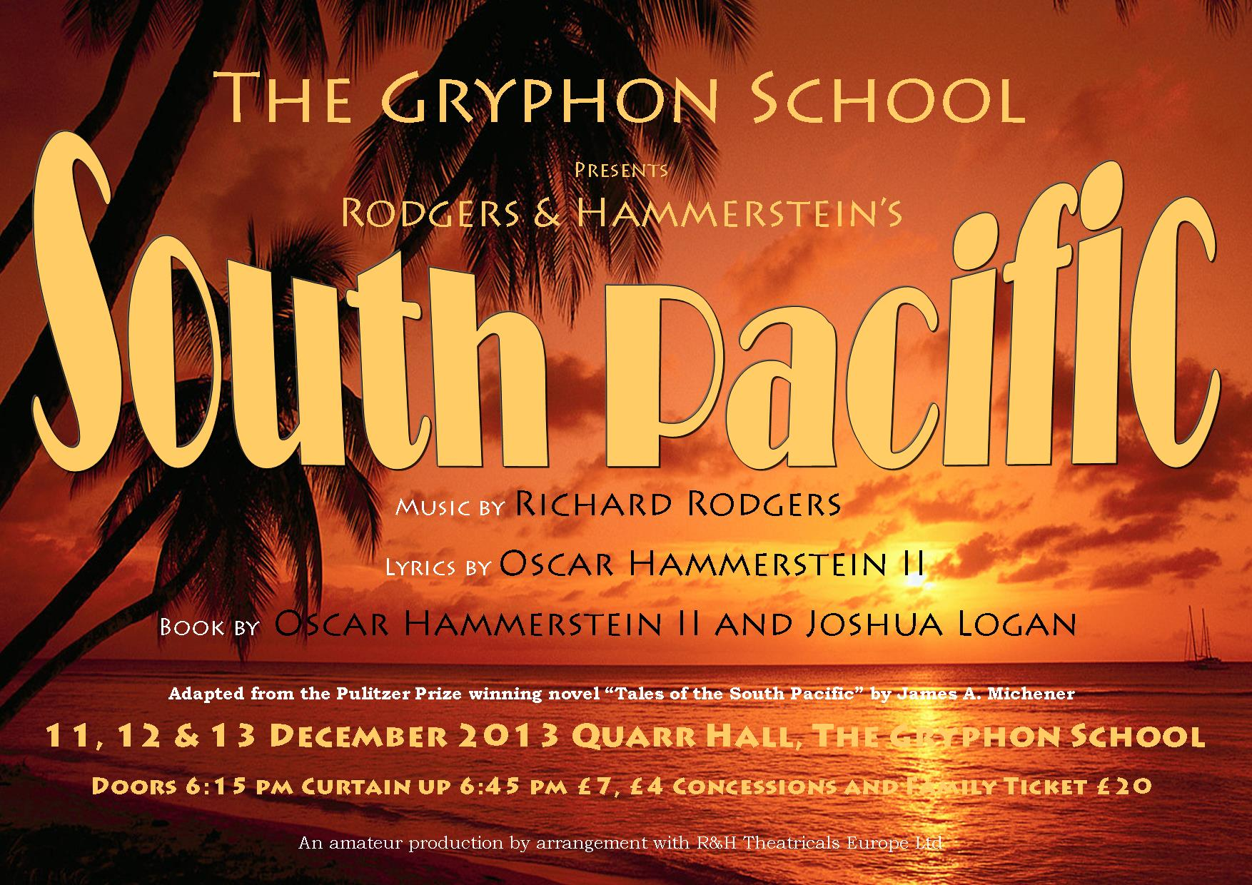 South Pacific 11, 12, 13 December 2013