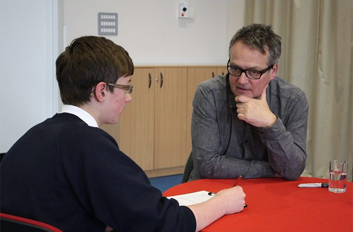 Charlie Higson at Gyphon School